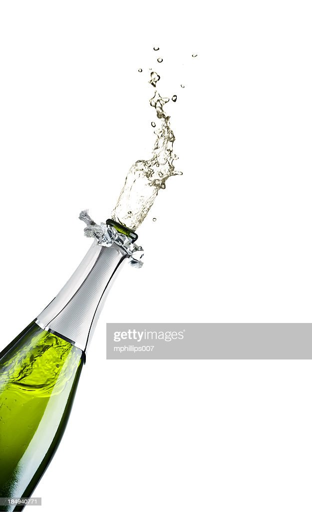 Champagne Exploding : Stock Photo