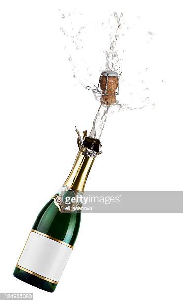 champagne exsplosion - champagne stock pictures, royalty-free photos & images