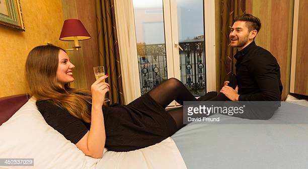 champagne foot rub paris love - foot massage stock photos and pictures