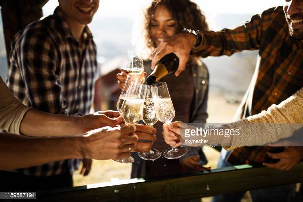 champagne for everyone! - champagne stock pictures, royalty-free photos & images