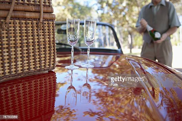 Champagne Glasses on the Hood