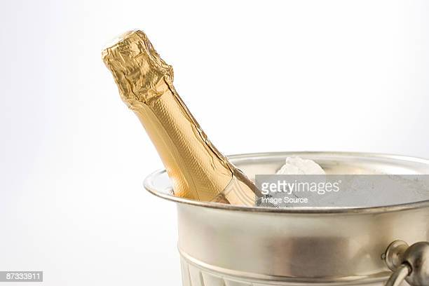Champagne in an ice bucket