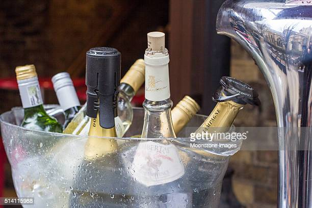 Champagne in Borough Market, London