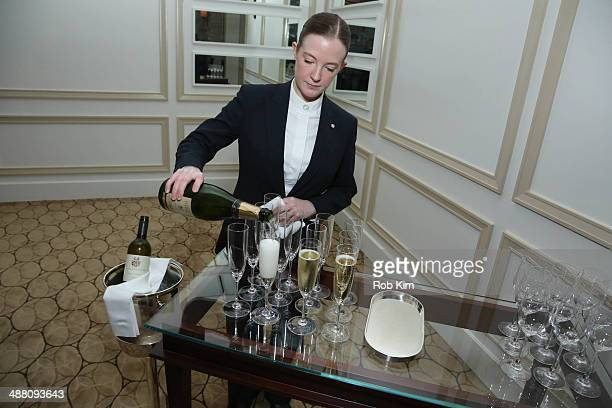 Champagne is poured at Starwood Preferred Guest's Gourmet Experience of a Lifetime with Chef Thomas Keller at Per Se for Luck SPG Members Courtesy Of...