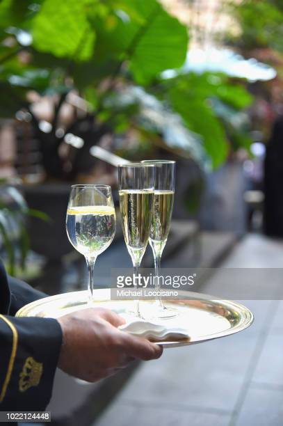 Champagne on display at the 2018 Lotte New York Palace Invitational on August 23 2018 in New York City