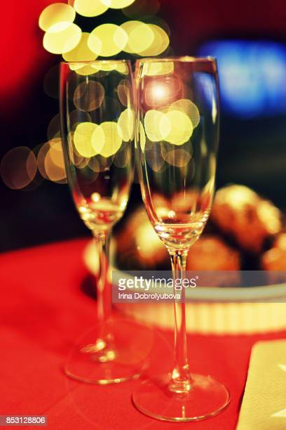 champagne on new year evening