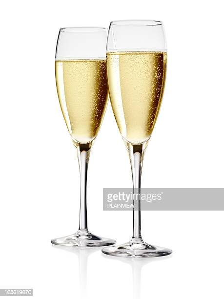 champagne - two objects stock photos and pictures