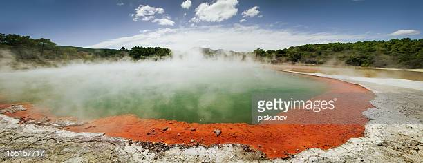 champagne pool - rotorua stock pictures, royalty-free photos & images
