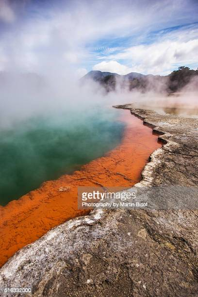 champagne pool - new zealand stockfoto's en -beelden