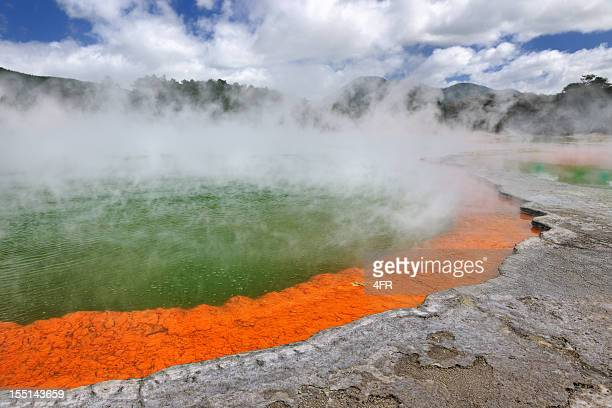 champagne pool, thermal wonderland, new zealand (xxxl) - rotorua stock pictures, royalty-free photos & images