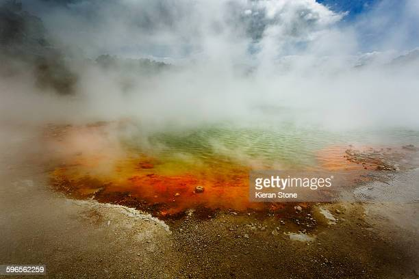 champagne pool waiotapu - rotorua stock pictures, royalty-free photos & images