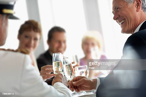 Champagne Toast at Captain's Table