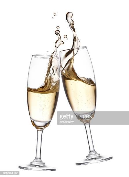 champagne toast - champagne colored stock pictures, royalty-free photos & images
