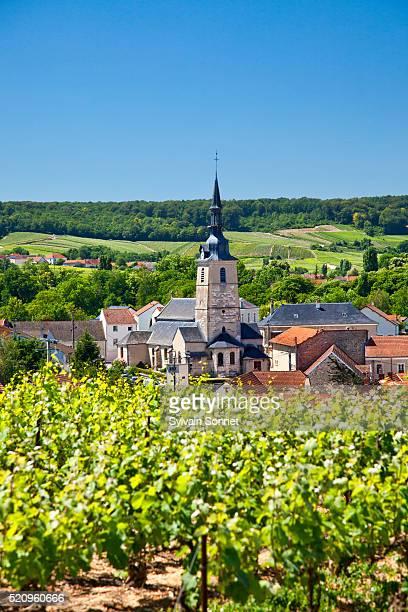 champagne, village of sermiers - マルヌ県 ストックフォトと画像