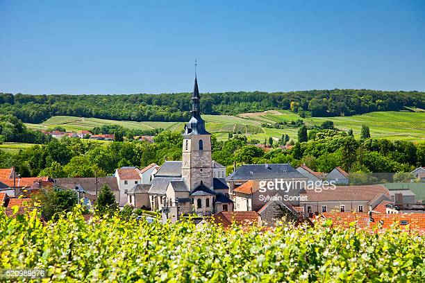 champagne, village of sermiers - marne stock pictures, royalty-free photos & images