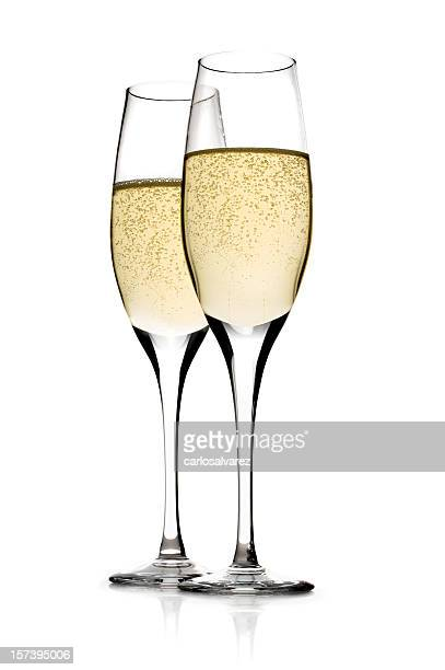 Champagner mit Clipping path