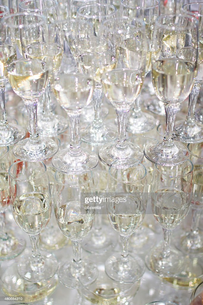 Champaign glasses isolated on white background : Stock Photo