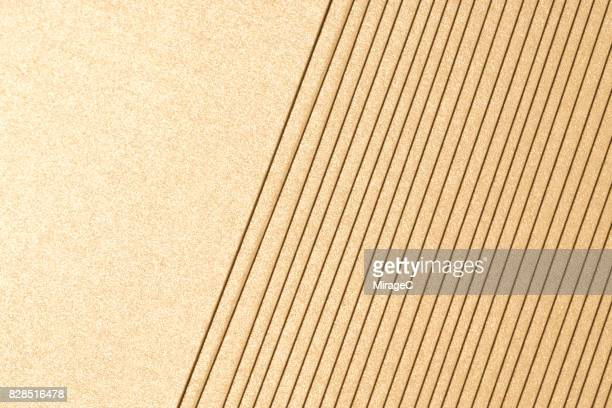 champaign gold colored paper stacking - beige stock-fotos und bilder