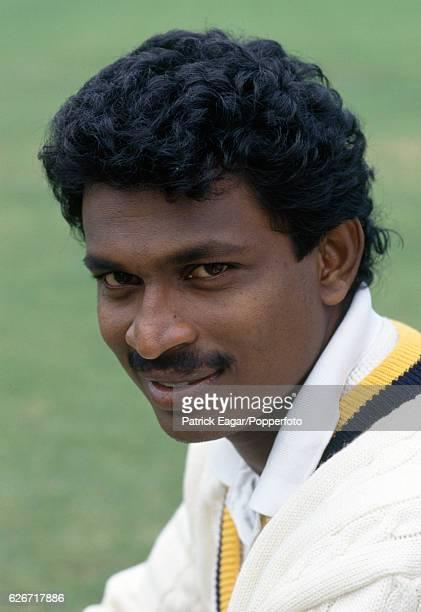 Champaka Ramanayake of Sri Lanka during the 1991 tour of England circa August 1991