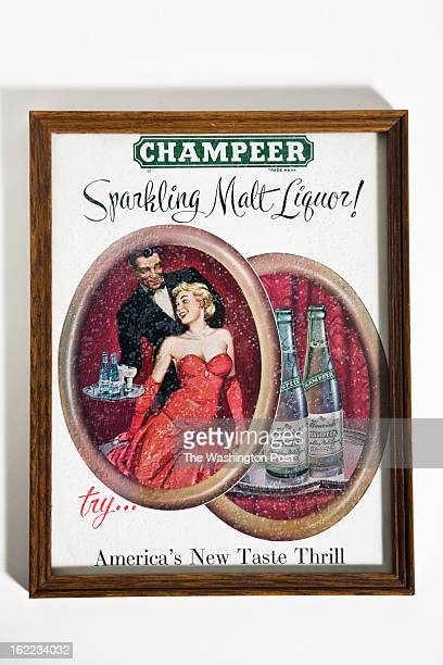 'Champeer' Sparkling Malt Liquor Poster at the Heurich House on December 4 2012 in Washington DC