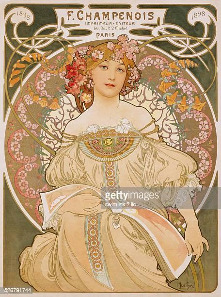 F Champenois Poster by Alphonse Mucha