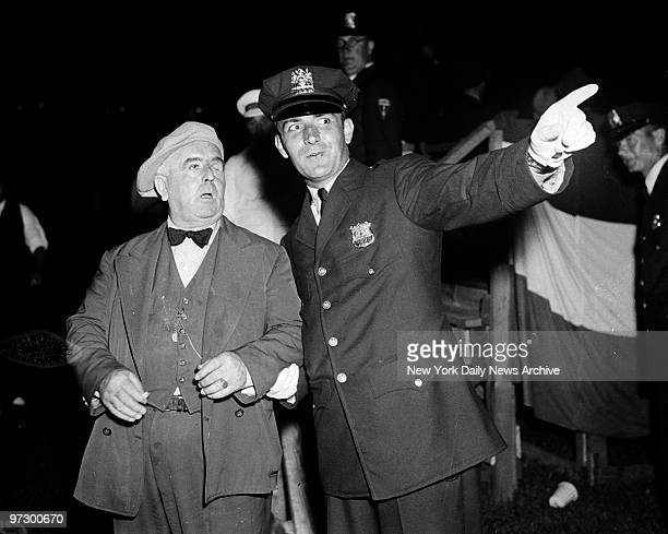 Champiion gatecrasher Oneeyed Connelly at the Joe Louis Max Schmeling fight