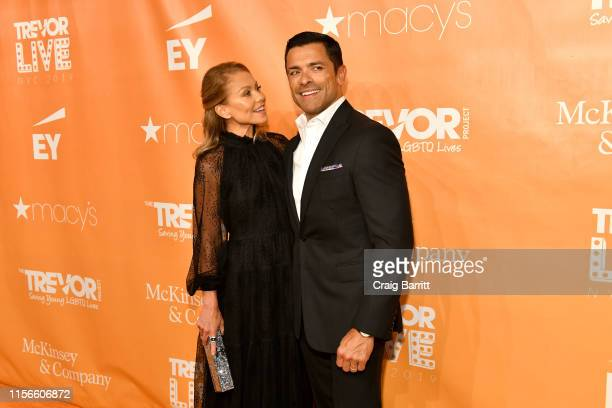 Champion Award Honorees Kelly Ripa and Mark Consuelos attend TrevorLIVE NY 2019 at Cipriani Wall Street on June 17 2019 in New York City