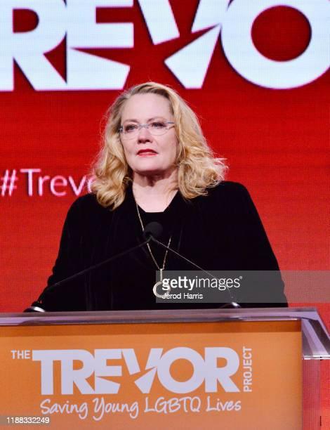 Champion Award winner Cybill Shepherd speaks onstage during The Trevor Project's TrevorLIVE LA 2019 at The Beverly Hilton Hotel on November 17 2019...