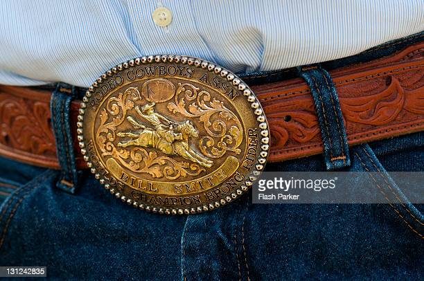 champion bronc rider - leather belt stock pictures, royalty-free photos & images