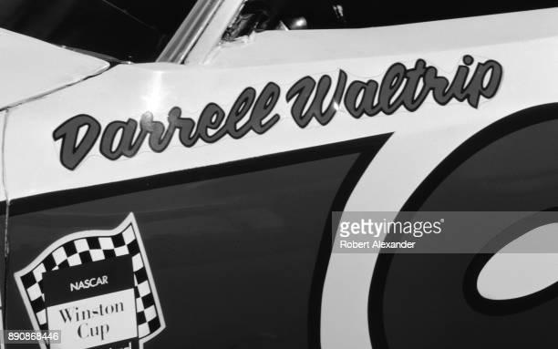 NASCAR champion Darrell Waltrip's race car sits in the garage prior to the start of the 1980 Daytona 500 stock car race at Daytona International...