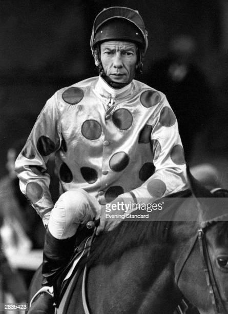 Champion English flat racing jockey Lester Piggott