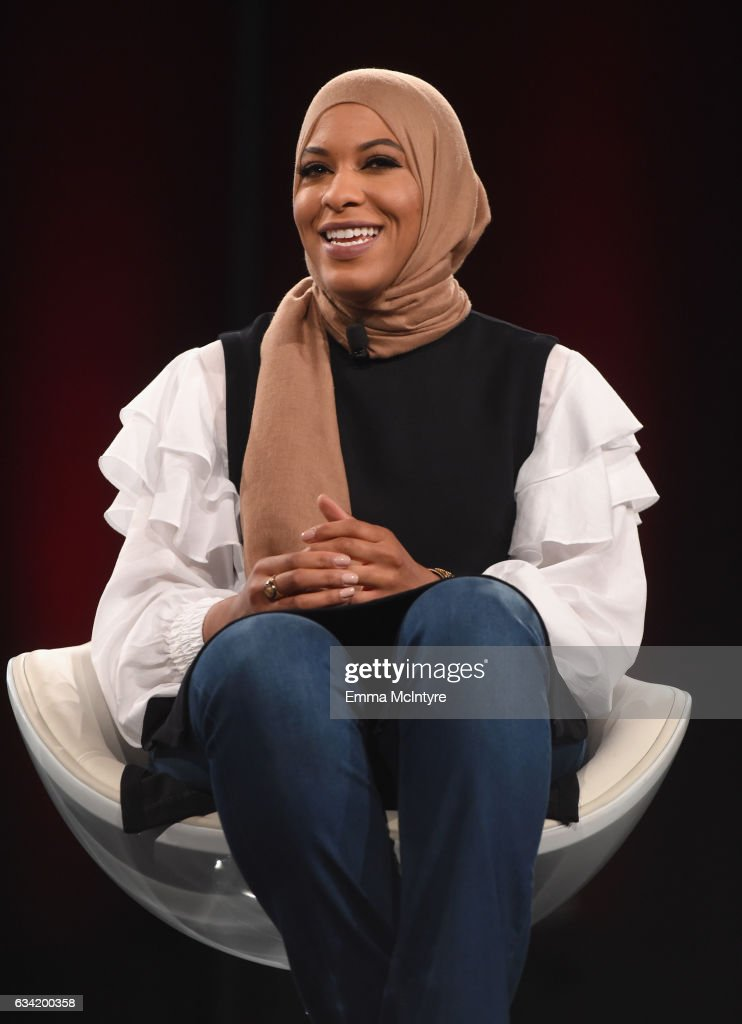 Champion Fencer & Activist Ibtihaj Muhammad speaks onstage during The 2017 MAKERS Conference Day 2 at Terranea Resort on February 7, 2017 in Rancho Palos Verdes, California.