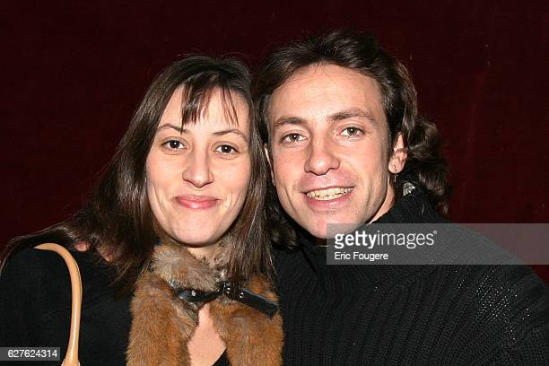 Champion ice skater Philippe Candeloro and his wife attend Bruno Salamone's latest stage show