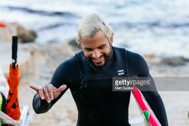 Champion Italo Ferreira of Brazil surfing in Heat 7 of Round 4 of the Boost Mobile Margaret River Pro presented by Corona on May 4, 2021 in Margaret...