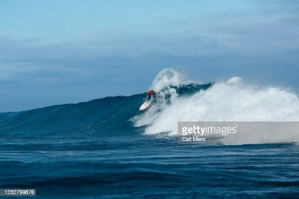 Champion Italo Ferreira of Brazil surfing in Quarterfinals 4 of the Boost Mobile Margaret River Pro presented by Corona on May 10, 2021 in Margaret...