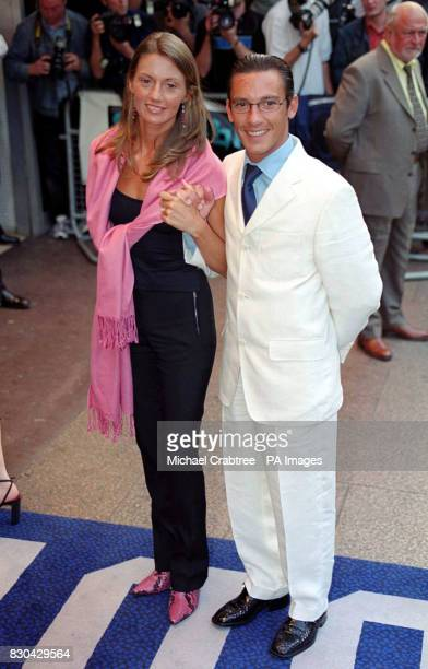 Champion jockey Frankie Dettori and his wife Catherine arriving for the European Premiere of the film Gone In 60 Seconds at the Odeon West End Cinema...