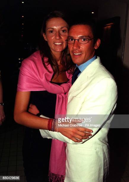 Champion jockey Frankie Dettori and his wife Catherine at a party at the Mezzo bar in London following the Premiere of the film Gone in 60 Seconds
