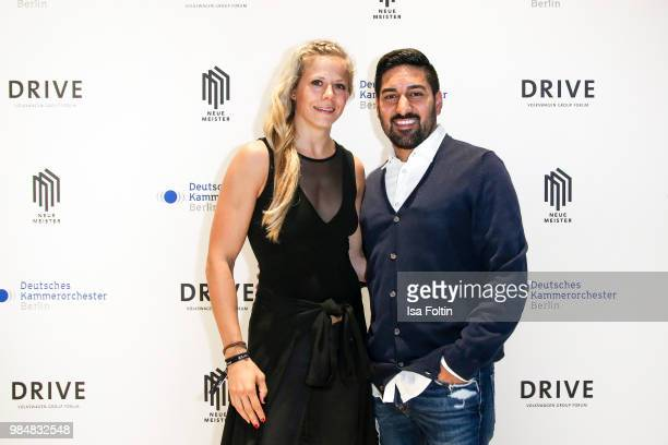 Judo athlete Julia Dorny and her boyfriend Mehmet Pektas during the 8th edition of the Berlin concert series 'Neue Meister' at Volkswagen Group Forum...