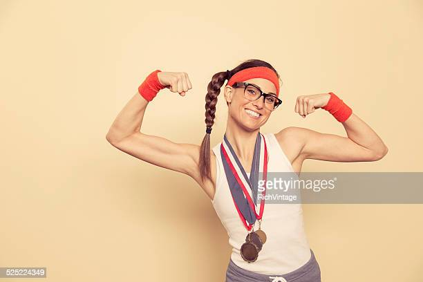 champion of the nerds - medalist stock pictures, royalty-free photos & images