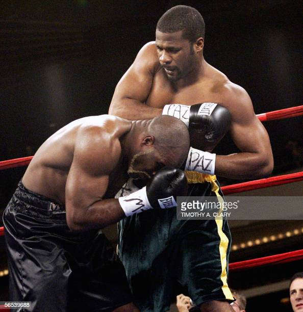 champion O'Neil Bell from Jamaica and WBA and WBC cruiserweight champion JeanMarc Mormeck fight in their 12round cruiserweight championship fight at...