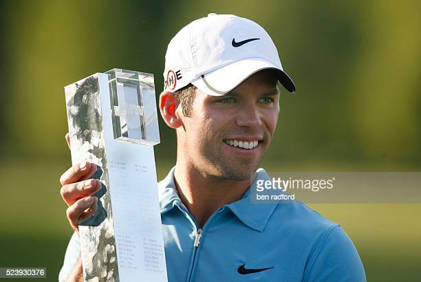 Champion Paul Casey of England celebrates his victory after the fourth round of the BMW PGA Golf Championship at the Wentworth Club in Surrey England...