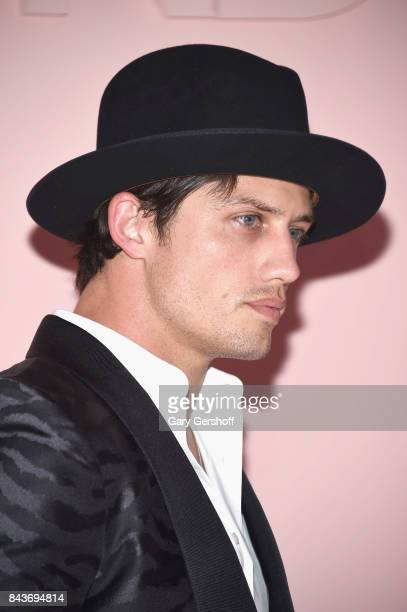Champion professional bull rider and fashion model Bonner Bolton attends the Tom Ford fashion show during New York Fashion Week on September 6 2017...
