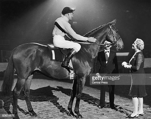 Champion race horse Arkle ridden by Pat Taaffe before the start of the Horse of the Year Show at the Empire Pool Wembley 6th October 1969 With them...