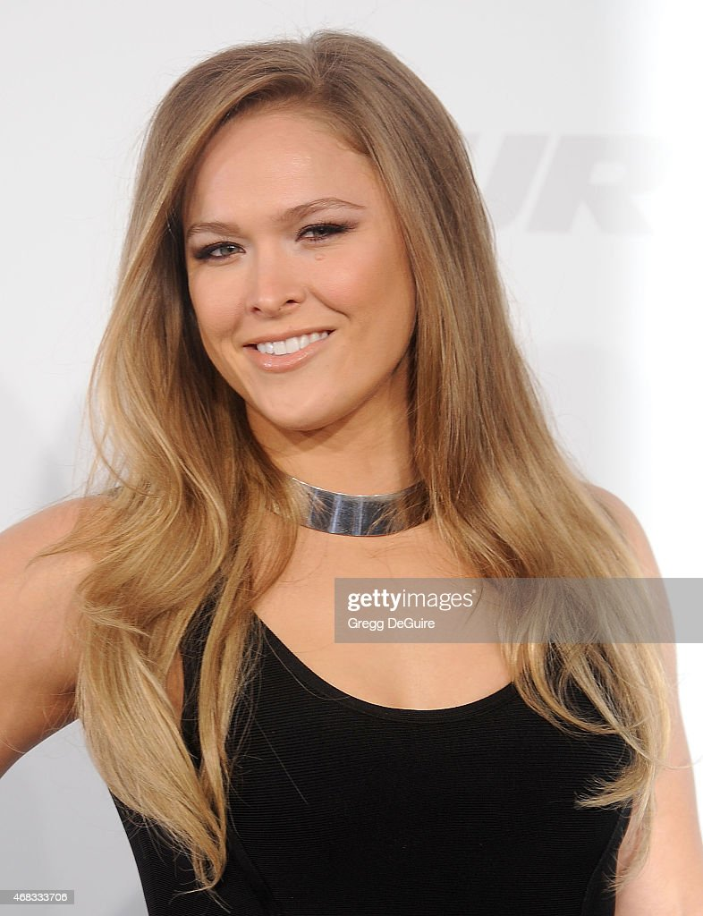 UFC champion Ronda Rousey arrives at the Los Angeles premiere of 'Furious 7' at TCL Chinese Theatre IMAX on April 1, 2015 in Hollywood, California.