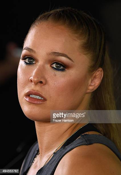 Champion Ronda Rousey, Hosts Media Day Ahead of The Rousey Vs. Holm Fight at the Glendale Fighting Club on October 27, 2015 in Glendale, California.