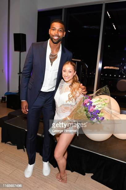 Champion Tristan Thompson and 2019 World of Dance finalist Briar Nolet attend The Amari Thompson Soiree 2019 in support of Epilepsy Toronto held at...