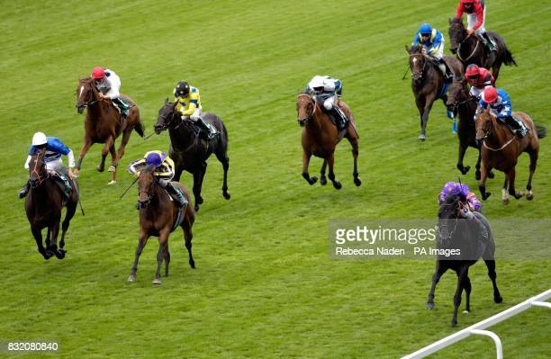 Champions Gallery and jockey John Egan wins The Cathay Pacific 60th Anniversary Handicap Stakes at Ascot racecourse