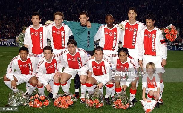 Champions League 02/03, Amsterdam; Ajax Amsterdam - FC Valencia 1:1; Team Ajax Amsterdam