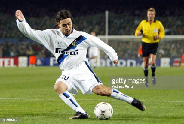 Champions League 02/03, Barcelona; FC Barcelona - Inter Mailand 3:0; Alvaro RECOBA/Inter