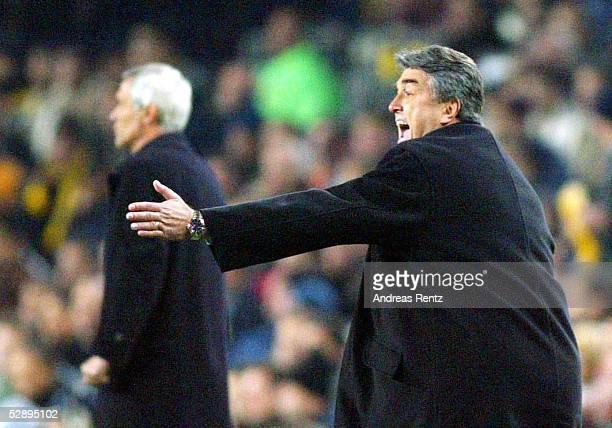 Champions League 02/03 Barcelona FC Barcelona Inter Mailand 30 Trainer Hector Raul CUPER/Inter Trainer Radomir ANTIC/Barcelona